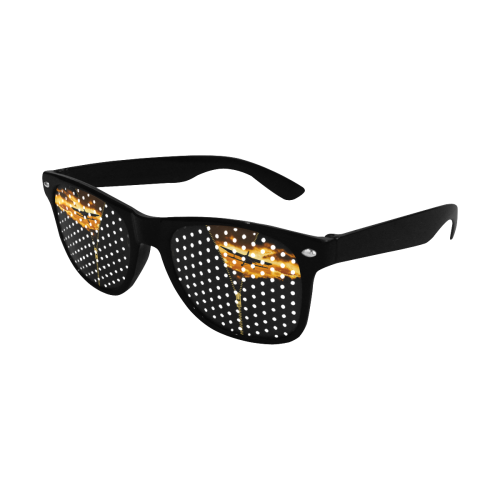 ZIPPER Old Biplane in the Sky Custom Sunglasses (Perforated Lenses)