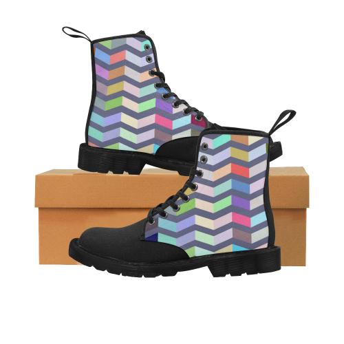 zappwaits art z Martin Boots for Women (Black) (Model 1203H)