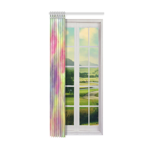 "Pastel Watercolor Cottonballs 9208 Window Curtain 52"" x 120""(One Piece)"