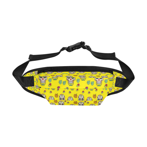 Skull Popart by Nico Bielow Fanny Pack/Large (Model 1676)