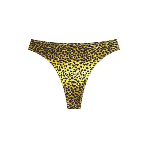 LEOPARD version 2 Sport Top & High-Waisted Bikini Swimsuit (Model S07)