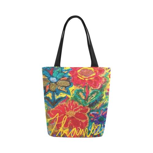 HAPPY TOTE Canvas Tote Bag (Model 1657)