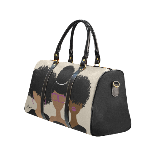 Curly Girl Trio (Royalty) New Waterproof Travel Bag/Small (Model 1639)