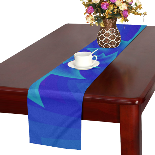 Royal blue star spiral Table Runner 14x72 inch | ID: D2519768