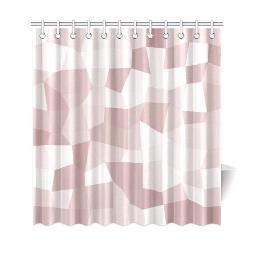Mauve Beige Mosaic Shower Curtain 69x72