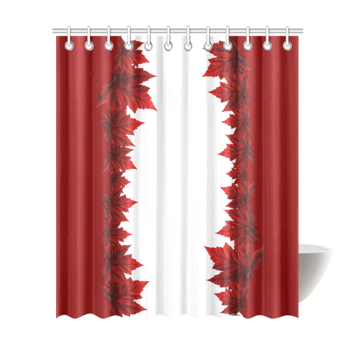 Autumn Leaves Shower Curtain Canada Souvenir