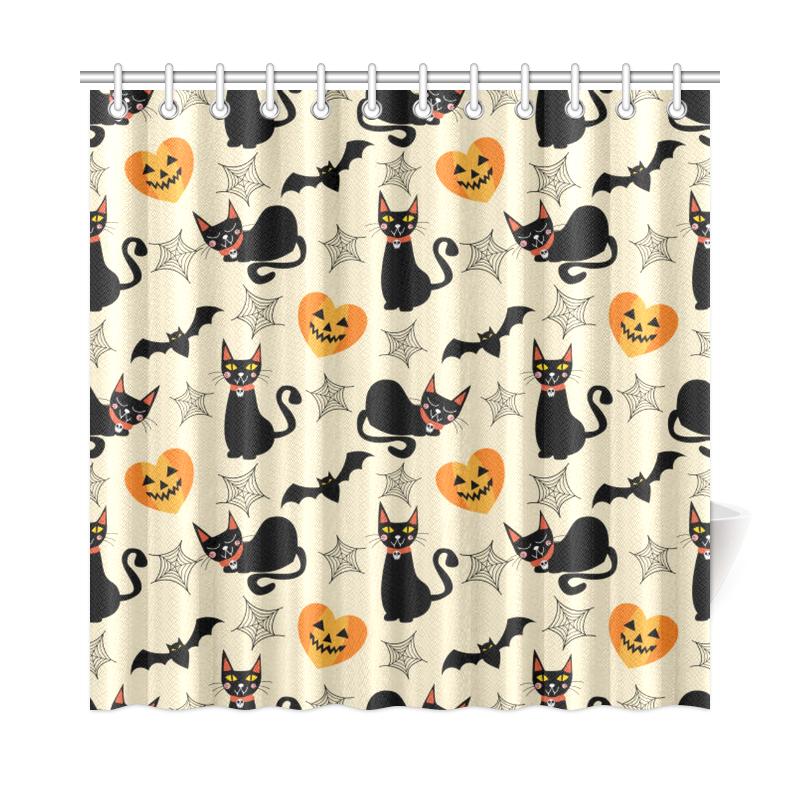 Halloween Cats Shower Curtain ...