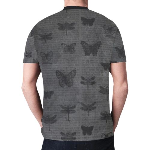RL Dark Poetry Grunge Crew Neck New All Over Print T-shirt for Men (Model T45)