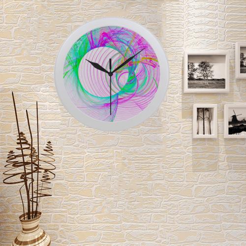 Fractal Art u001 Circular Plastic Wall clock