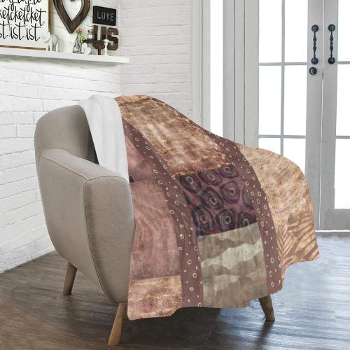 "African Python Patchwork Ultra-Soft Micro Fleece Blanket 40""x50"""