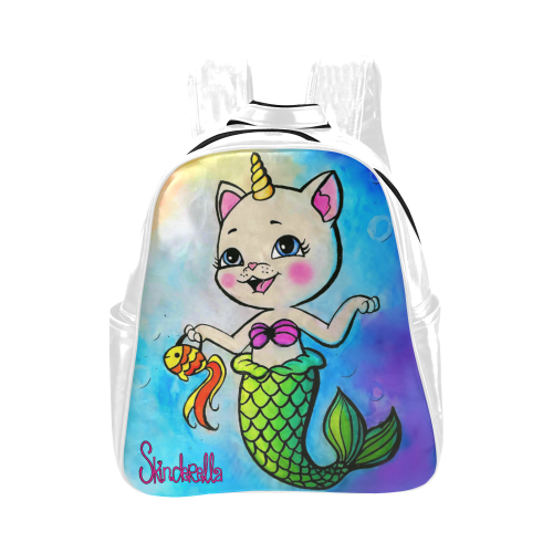 MerKittyCorn by Skinderella Multi-Pockets Backpack (Model 1636)