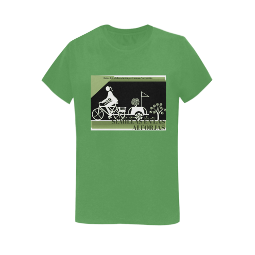 SEMILLAS EN LAS ALFORJAS VERDE Women's T-Shirt in USA Size (Two Sides Printing)