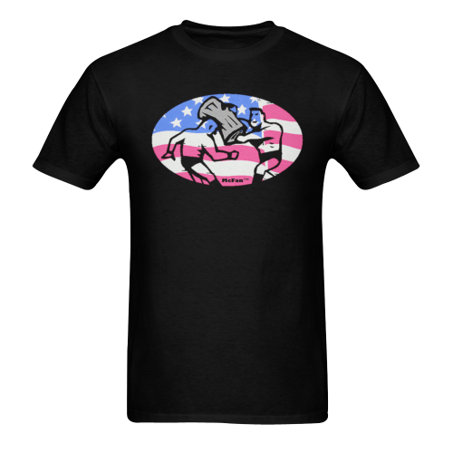 Can Shot - patriot Sunny Men's T-shirt (USA Size) (Model T02)
