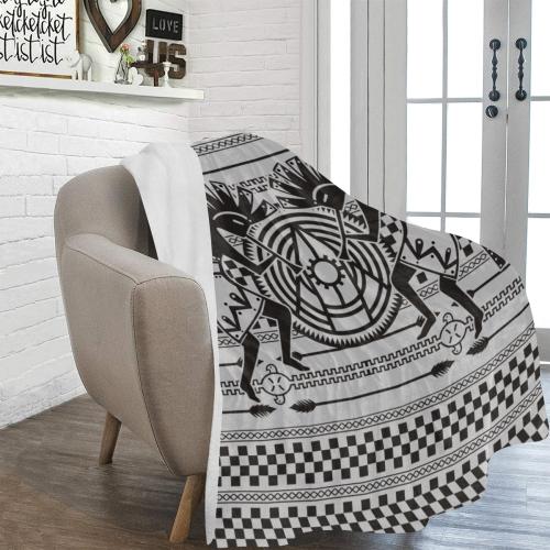 "Native American Kokopelli Musicans - Modern Sun Ra Ultra-Soft Micro Fleece Blanket 60""x80"""