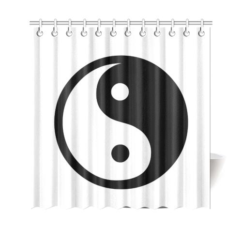"Yin and Yang Shower Curtain 69""x70"""