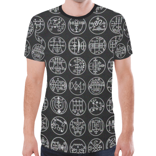 Goetia Demons Symbols Gothic Underground Graphic Tee New All Over Print T-shirt for Men (Model T45)