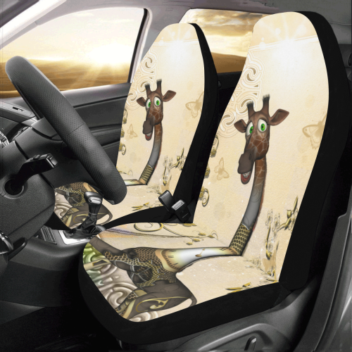 Admirable Funny Steampunk Giraffe Car Seat Covers Set Of 2 Id D2990233 Alphanode Cool Chair Designs And Ideas Alphanodeonline