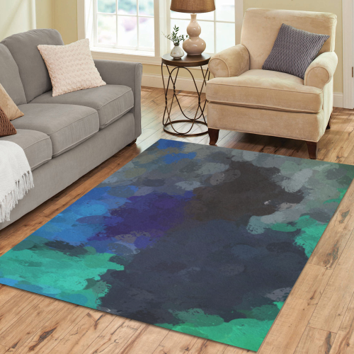 Peacock Abstract Art 4938 Area Rug7'x5'