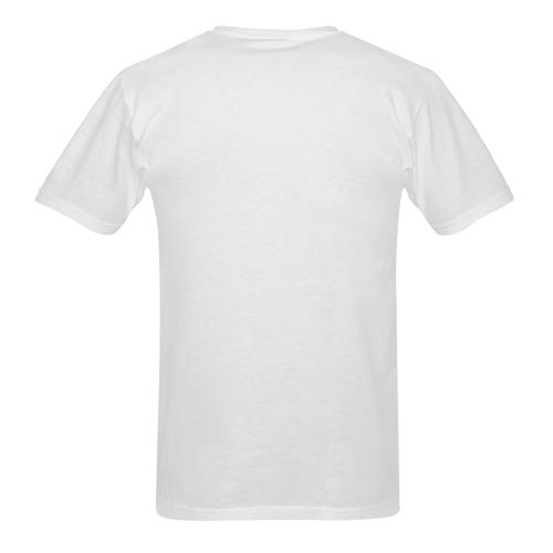 Trash Can Lid Shot - b & w Sunny Men's T-shirt (USA Size) (Model T02)