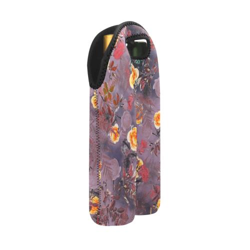 flowers #flowers #pattern 2-Bottle Neoprene Wine Bag