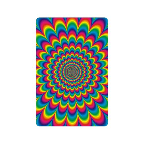 """Crazy Psychedelic Flower Power Hippie Mandala Doormat 23.6""""x15.7"""""""