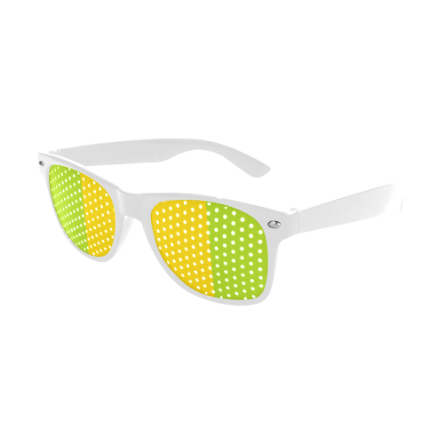 Only two Colors: Sun Yellow - Spring Green Custom Sunglasses (Perforated Lenses)