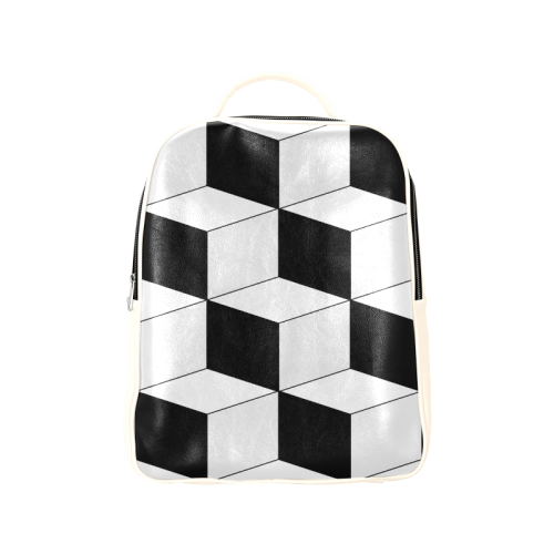 Abstract geometric pattern - black and white. Popular Backpack (Model 1622)   2290bfb5c1498