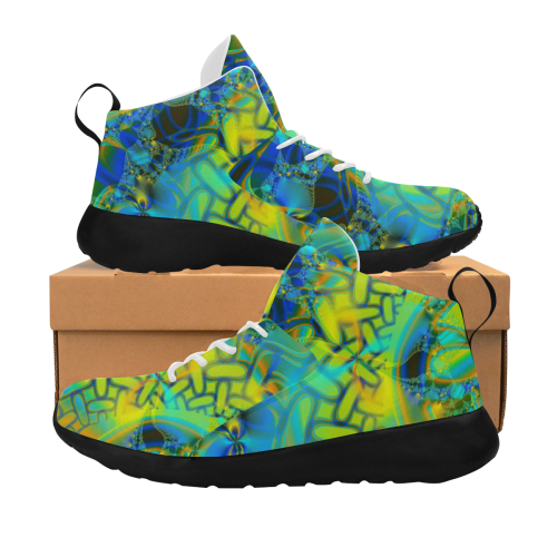 Abstract Layering Women's Chukka Training Shoes/Large Size (Model 57502)