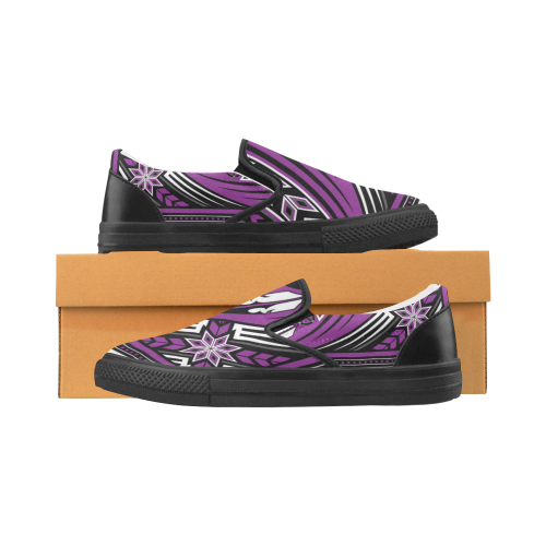 Wind Spirit Purple Men's Slip-on Canvas Shoes (Model 019)