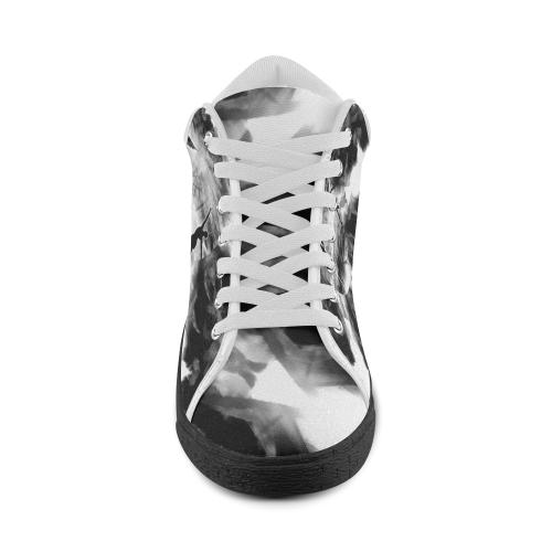 MYSTIC UNIVERSE 15 KK2A-BW Men's Chukka Canvas Shoes (Model 003)