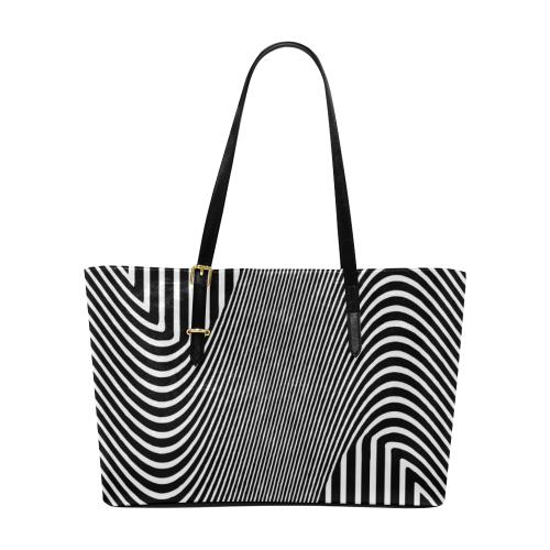 572c11f00d13 Fantasy Black and White Design Euramerican Tote Bag/Large (Model 1656) |  ID: D3436676