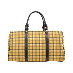 Yellow Tartan (Plaid) New Waterproof Travel Bag Small (Model 1639) dec47cbe96341