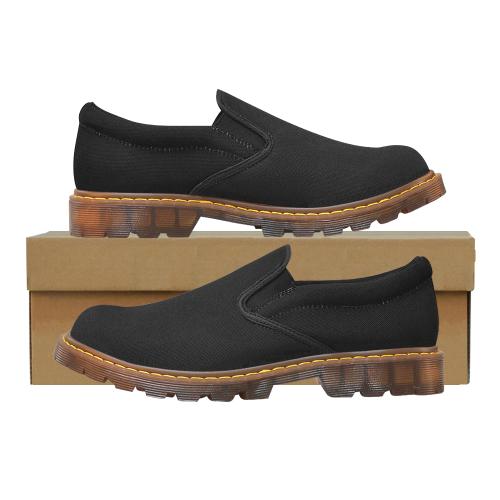 black Martin Women's Slip-On Loafer/Large Size (Model 12031)