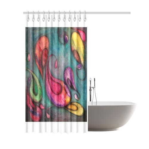 """Rainbow Pods Shower Curtain 69""""x84"""""""