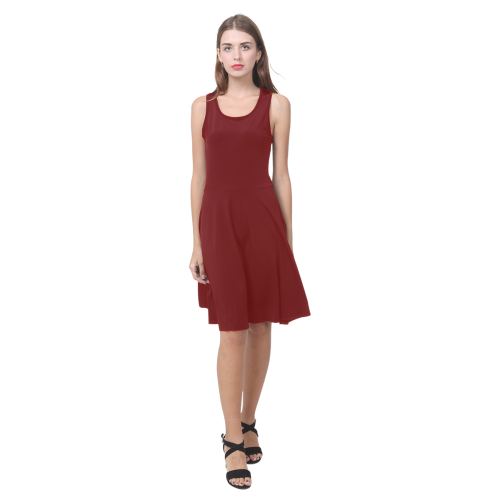 89e11016e90 MV Enchanted Blood Red Atalanta Casual Sundress(Model D04)