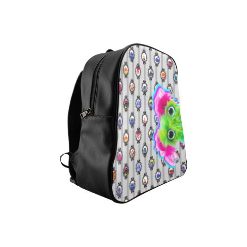 popart_saltybangbang_gray School Backpack (Model 1601)(Small)