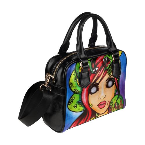 Medusa by Skinderella Shoulder Handbag (Model 1634)