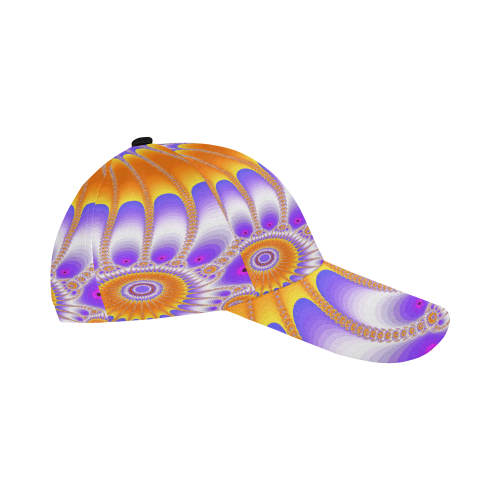 273871a662016 ... Purple and Orange Sunflower All Over Print Baseball Cap B ...