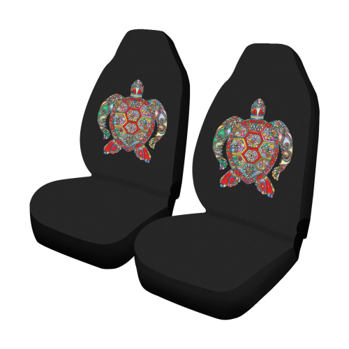 Rainbow Sea Turtle Car Seat Covers Set Of 2