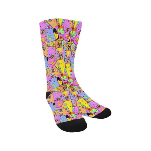 Peace Popart by Nico Bielow Trouser Socks