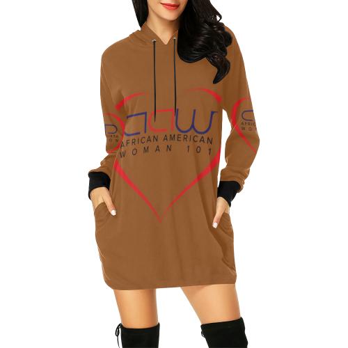 7531180c1e204 AAW101 Orange Sweater Dress All Over Print Hoodie Mini Dress (Model H27)