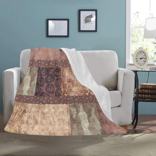 "African Python Patchwork Ultra-Soft Micro Fleece Blanket 50""x60"""