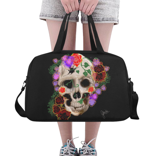 The Sugar Skull Fitness Handbag (Model 1671)