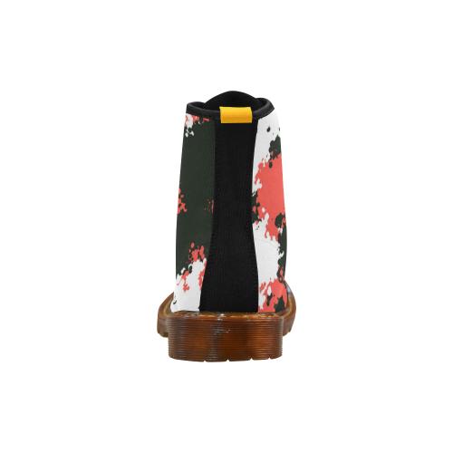 e05c4954aded9 ... Urban Yeezy 500 Orange-Red Black Light Camo Martin Boots For Women Model  1203H ...