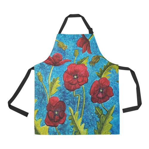 Poppies All Over Print Apron