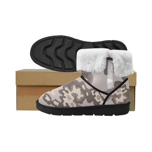 Dust-color camo Design camu boots ethno Unisex Single Button Snow Boots (Model 051)