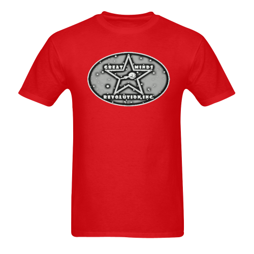 GM Rev, Inc. Logo art on red Sunny Men's T-shirt (USA Size) (Model T02)