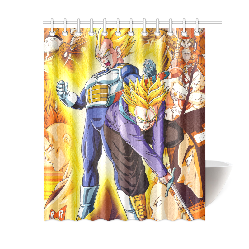 Image Is Loading Custom Waterproof Bathroom Curtain Dragon Ball Z Shower