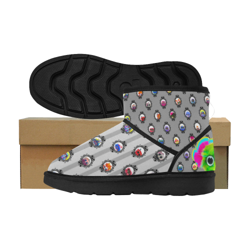 Better Bad Gray Low Top Unisex Snow Boots (Model 049)