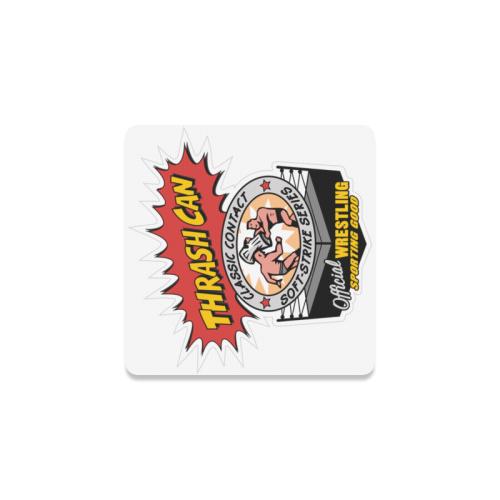 Thrash Can - Logo Square Coaster